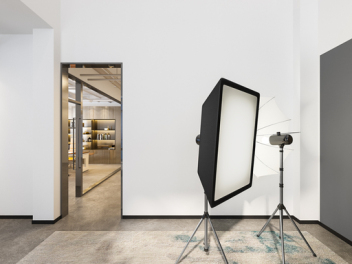 现代摄影棚全景模型